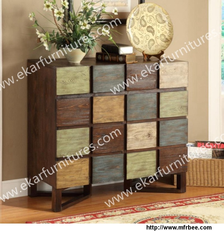 multi_drawers_wooden_home_decorated_console_chest_with_soft_hinge