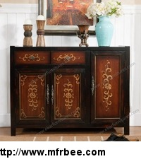 antique_country_style_wood_shoe_cabinet_with_doors