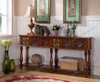 Antique wood console tables with mirror M-915