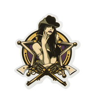Custom Stickers No Minimum | Western Girl Custom Stickers | GS-JJ.com ™