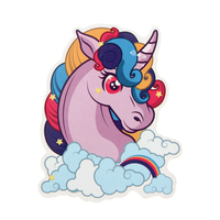Cheap Kiss Cut Stickers | Purple Unicorn Custom Stickers | GS-JJ.com ™