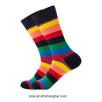 Selling colorful fashion design cotton men dressed socks