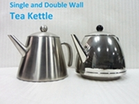 stailess steel double wall water kettle tea pot