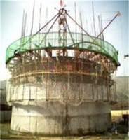 hydraulic Electrical lifting formwork/platform system for chimney of cement plant supplier