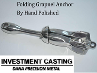 Supply folding Grapnel Anchor,bruce anchor,plow anchor and marine deck hardware