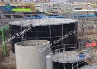 50000 gallon Agricultural Water Storage Tanks With Porcelain Enamel Coating Process