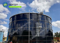 600,000 Gallon Bolted Steel Drinking Water Storage Tanks With Aluminum Alloy Trough Deck Roofs