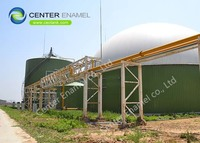 Center Enamel Bolted Steel Fire Water Tanks With Aluminum Roofs