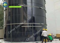 Glass-Fused-To-Steel Wastewater Storage Tank For Wastewater Treatment Projects