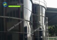 Easy Assemble Glass Fused to Steel Liquid Storage Tanks 20 m3 to 20,000 m3 Capactiy