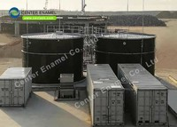 Bolted Steel Fire Protection Water Storage Tanks with Aluminum Dome Roofs