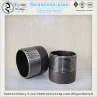 npt Sch40 Black Carbon Steel NPT Double Thread Swage Pipe Nipple