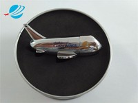 Custom logo printing aircraft usb flash drive