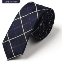 Polyester mens tie with square pattern in different colors