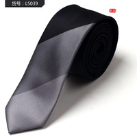 Multi-colors stripe polyester woven skinny tie