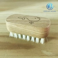 High Quality Safe Natural Wooden Baby Nail Brush Small Size for Little Fingers
