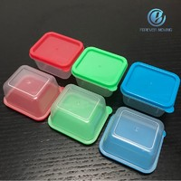 Mini plastic sauce container with colorful lids