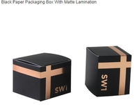 Customized Black Paper Packaging Box With Matte Lamination