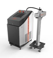 Flying fiber laser marking machine for plastic bottle/production line