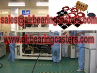 Air powered bearing casters with four air modular