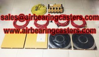 Air bearing casters details with pictures