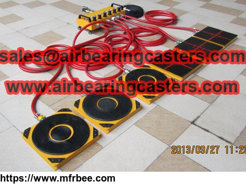 Air casters handing heavy duty loads