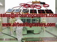 Air casters parameters and applications