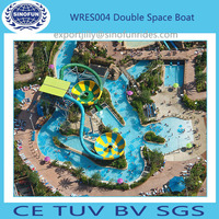 Water park fiberglass space bowl commercial water slide