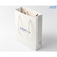 White paper bag with handle-garment paper bag,kraft paper box, coated paper bag