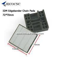 72x70mm IDM Edgebander Track Pads CNC Rubber Chain Pads for Edgebanding Machine