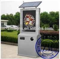 Street Solar Trash Bin Advertising Light Box