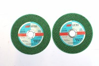 4.5 Inches, 107x1.2x16mm, T41 Sharp-type Flat Center Cut-off  Wheels for Metal and Stainless Steel, Green Color, Double Nets, EN12413