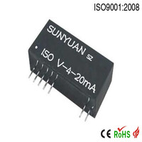 Two-wire loop power supply 4-20mA current to voltage converter