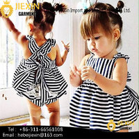 white and Black Strip Children Clothing Sets Hot Sale Baby 2 Pieces Clothes Outfits