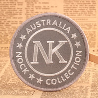 NK Iron On Embroidered Patches