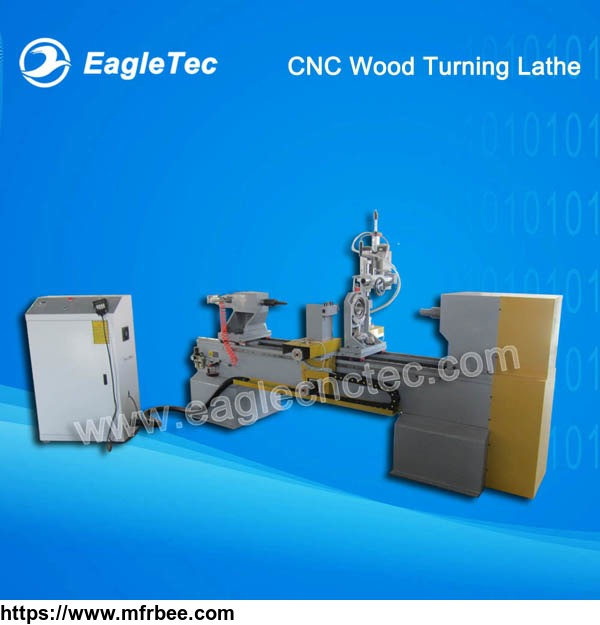 Wood Turning Lathe CNC Machine with One Axis Two Blades and Gymbals Spindle