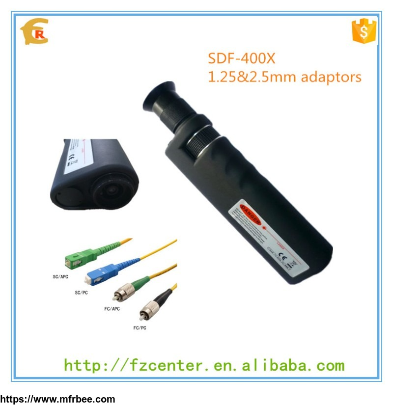 factory_price_1_25_2_5mm_adaptors_400x_auto_fiber_inspection_microscope_magnifier