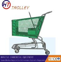 best sale wheeled  plastic shopping trolleyt  for your choice
