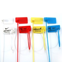 Flag Plastic Security Seal Pull Tight Parcel Label Luggage Tag Anti Tamper Cable Tie (Pack of 100PCS)