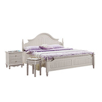 808 korean style white kids double bed for girl