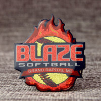 Blaze Softball Custom Trading Pins
