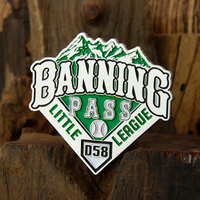 Banning Pass Little League Baseball Pins