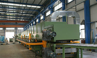double belt laminating machine, caterpillar press with Hydraulic pressure or Ball screw rod control system