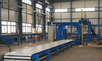 Sandwich panel packing machine,Panel stack wrapping package machine,packer, panel stack wrapper using PE film