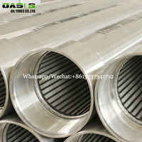 Vee shape wedge wire well screen slotted liners and wire wrapped screens tube