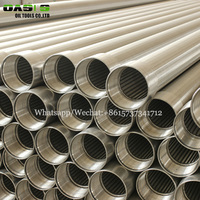 high open area Stainless steel slotted screen tube V-wire wound screens