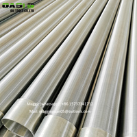 Stainless steel wire wrapped screen filters OASIS water well screen pipes