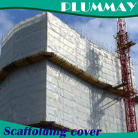 UV stabilized  construction scaffolding building safety sheet PE Debris cover