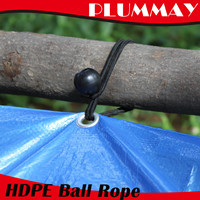 high quality plastic tarpaulin   accessories ball bungees elastic tie peg