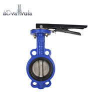 DN65 Lever type SS316 wafer cast iron  Butterfly valve for water
